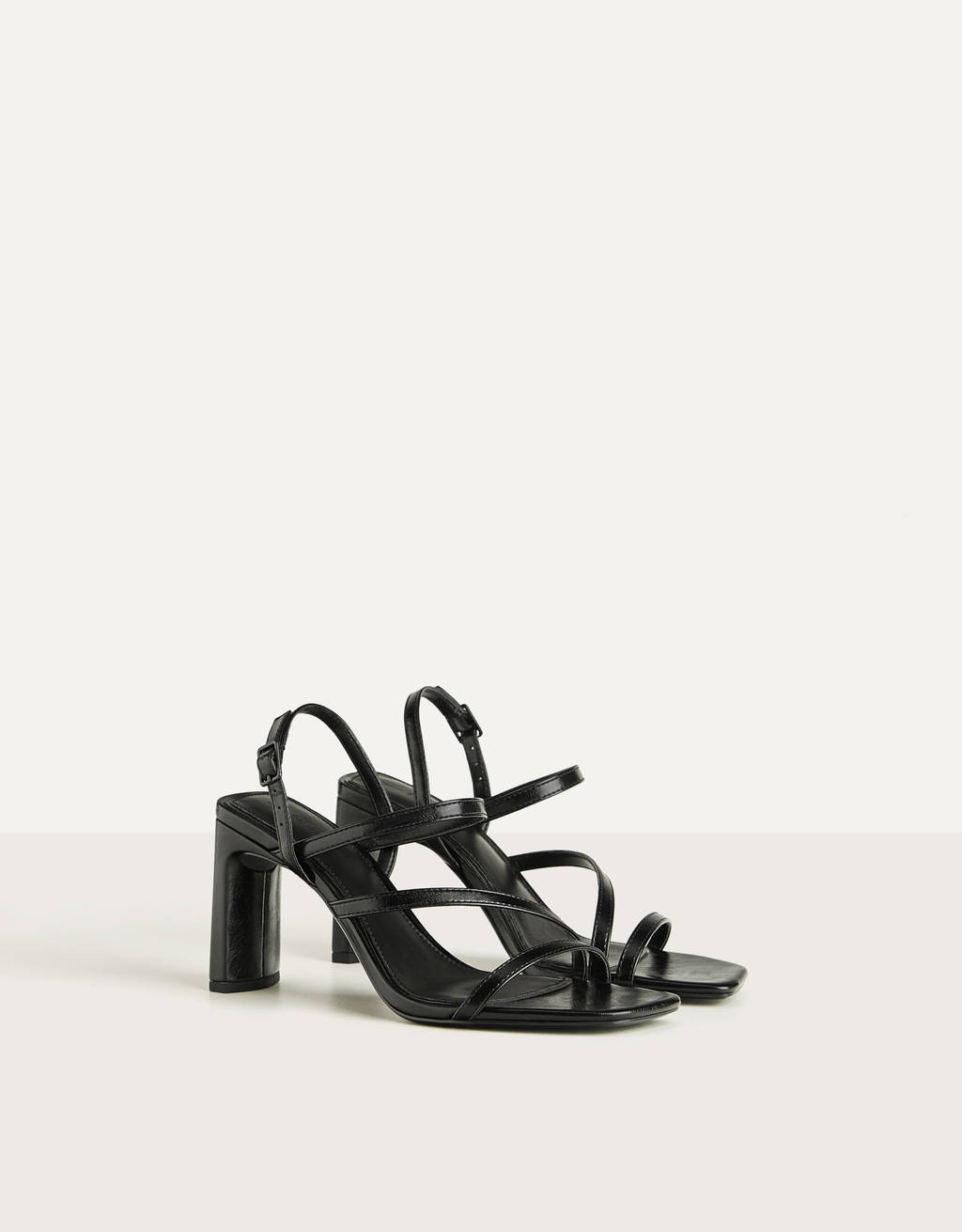 Multi-strap heeled sandals