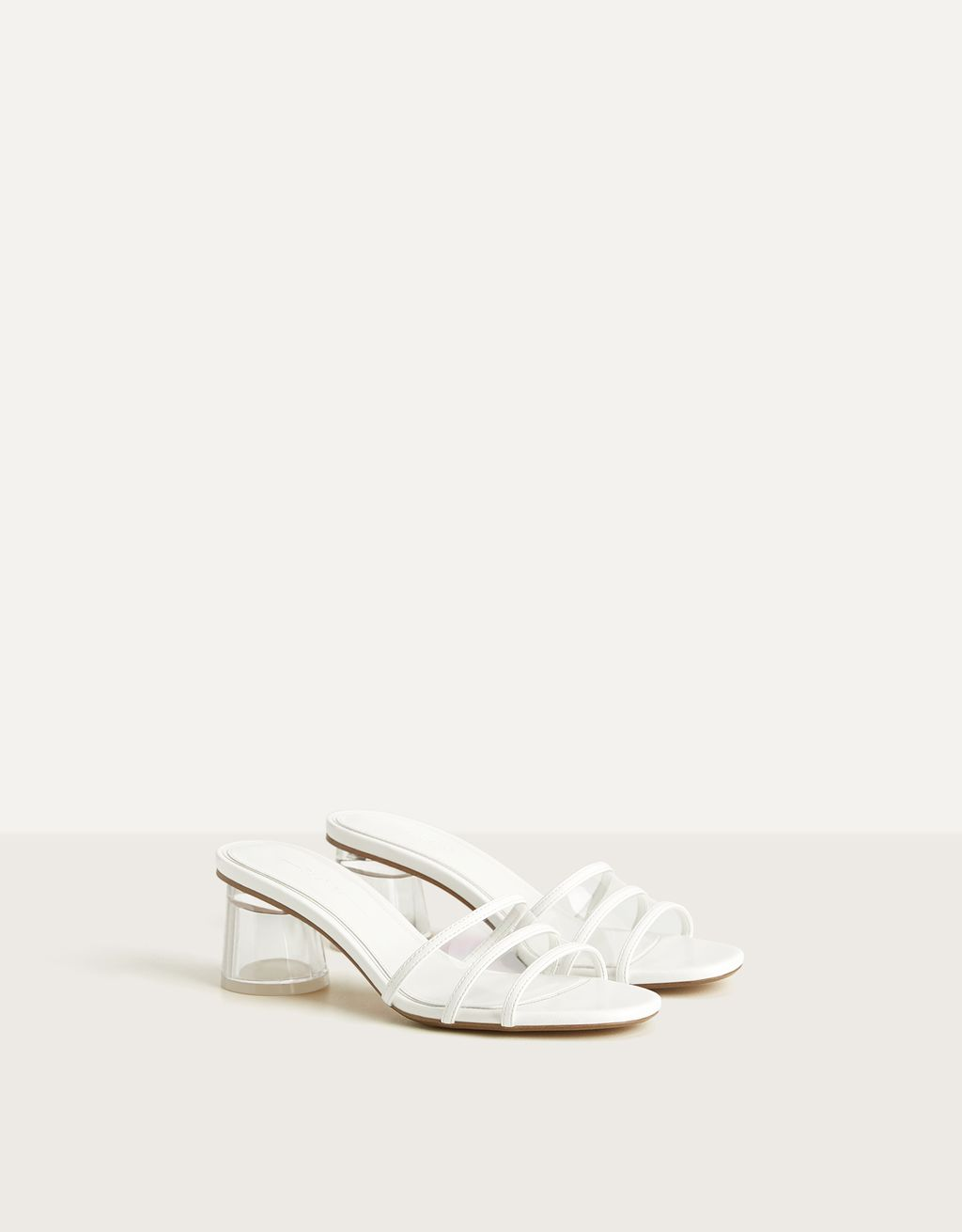 Sandales talon vinyle