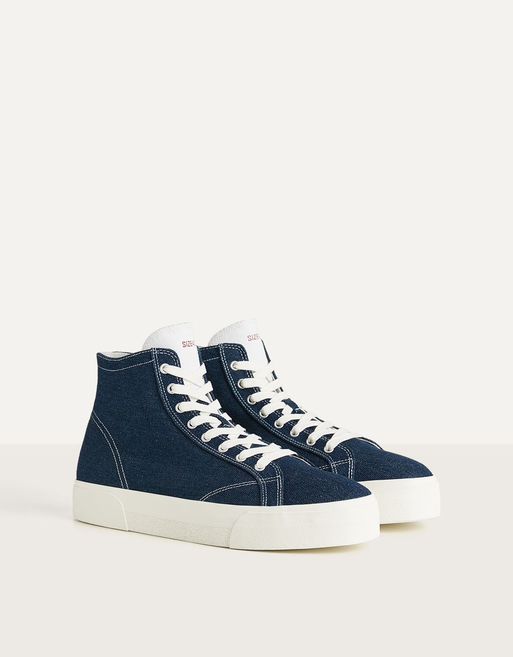 Men's denim high-top trainers
