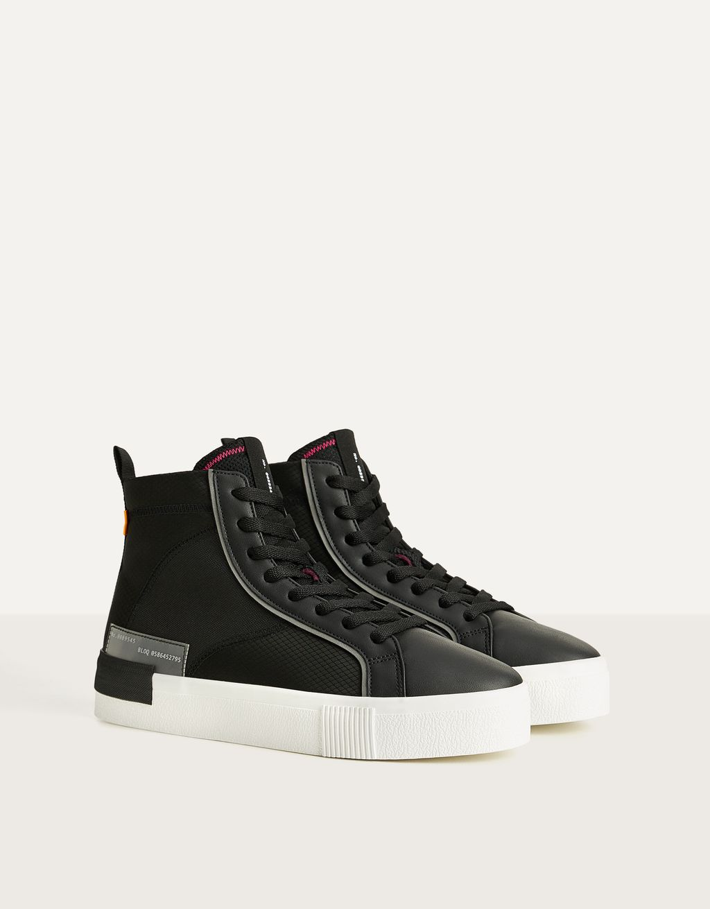 Men's fabric high-top trainers