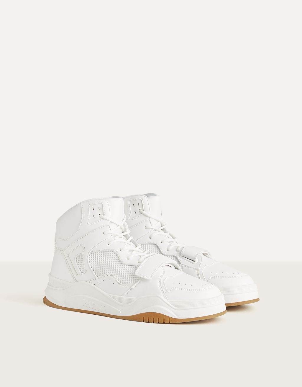 Gecombineerde high-top herensneaker