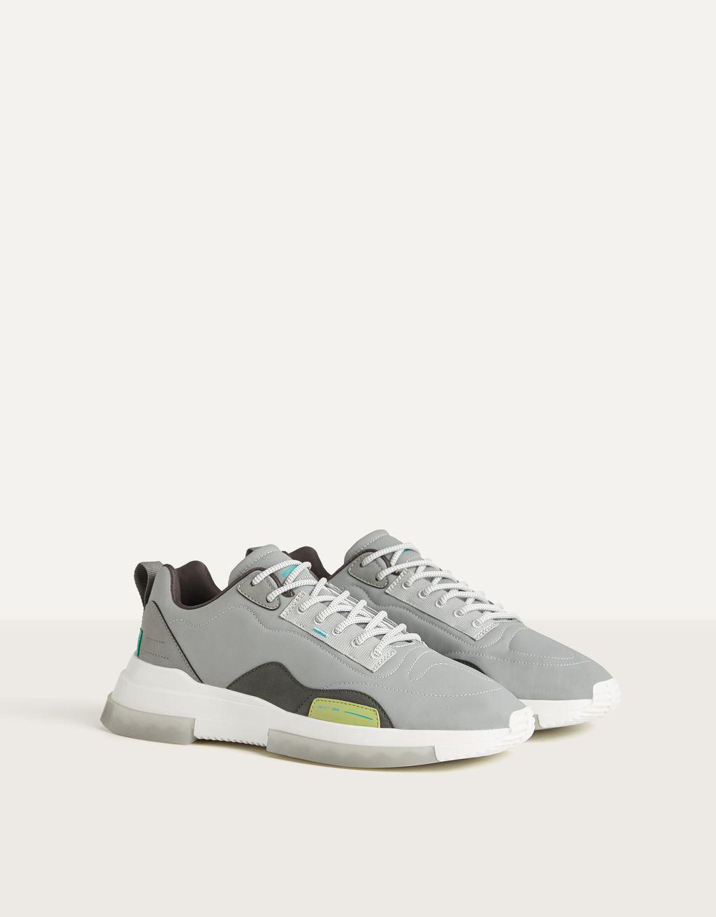 Sneakers réfléchissantes homme
