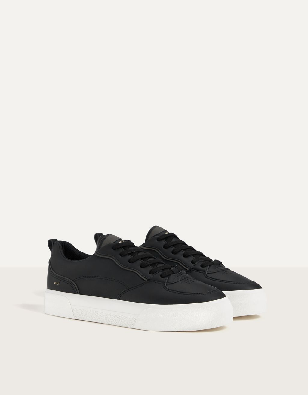 Men's topstitched trainers
