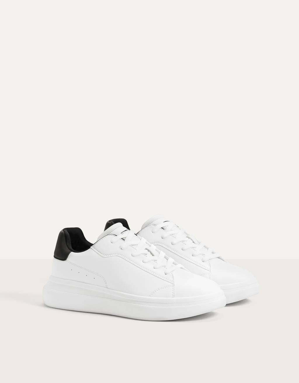 Sneakers tallone riflettente uomo