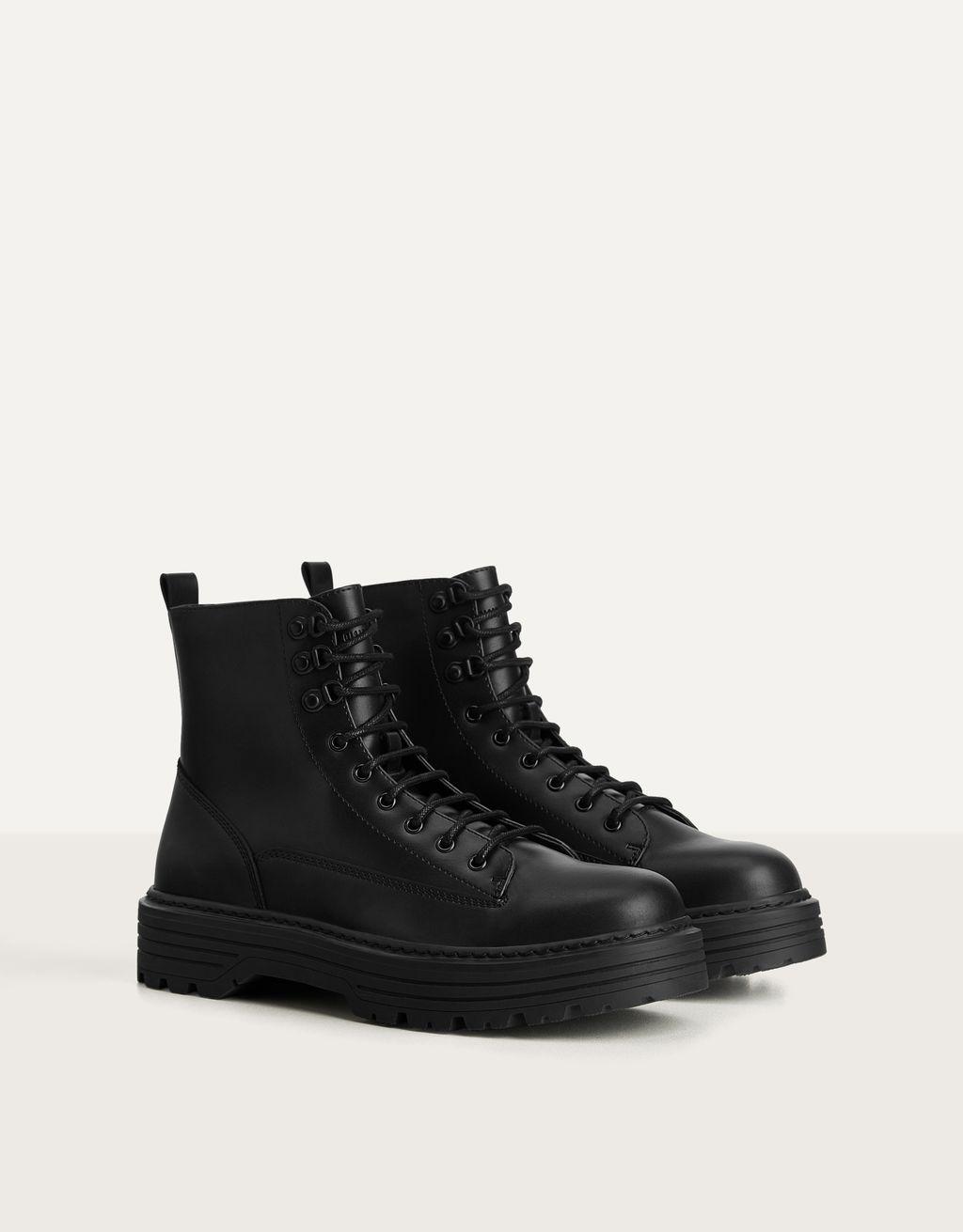 lace-up boots - Shoes - Bershka Venezuela