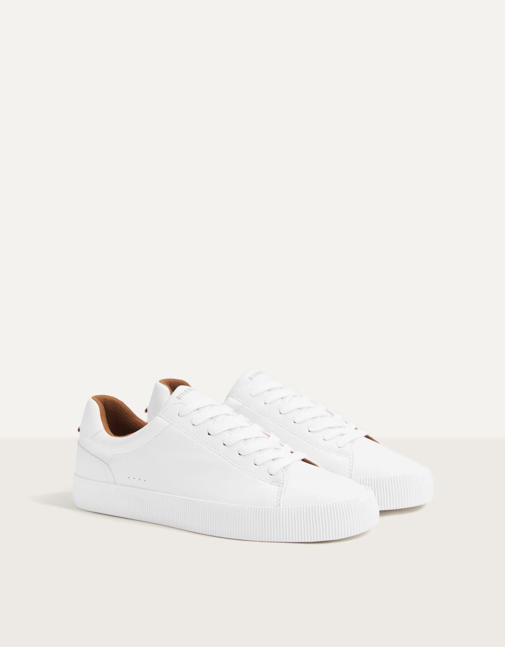 Men's white trainers
