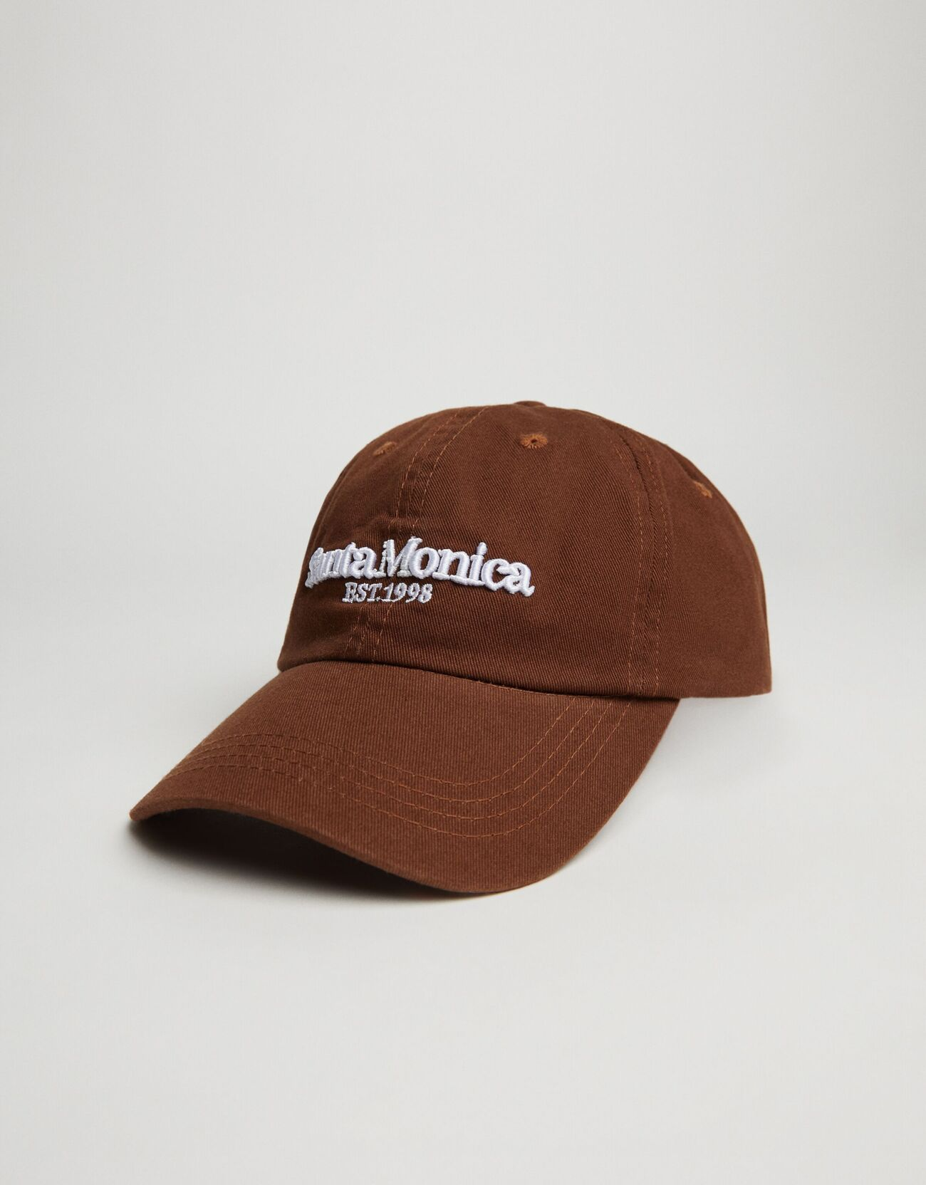 Bershka Retro Santa Monica Şapka Kadın Kahverengi