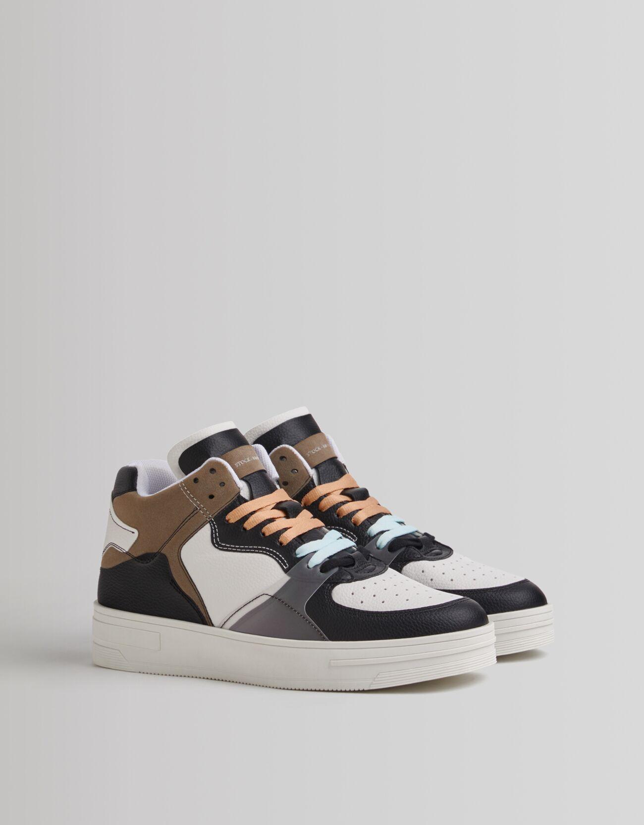 Bershka Sneakers Da Uomo A Stivaletto Combinate Uomo 44 Marrone