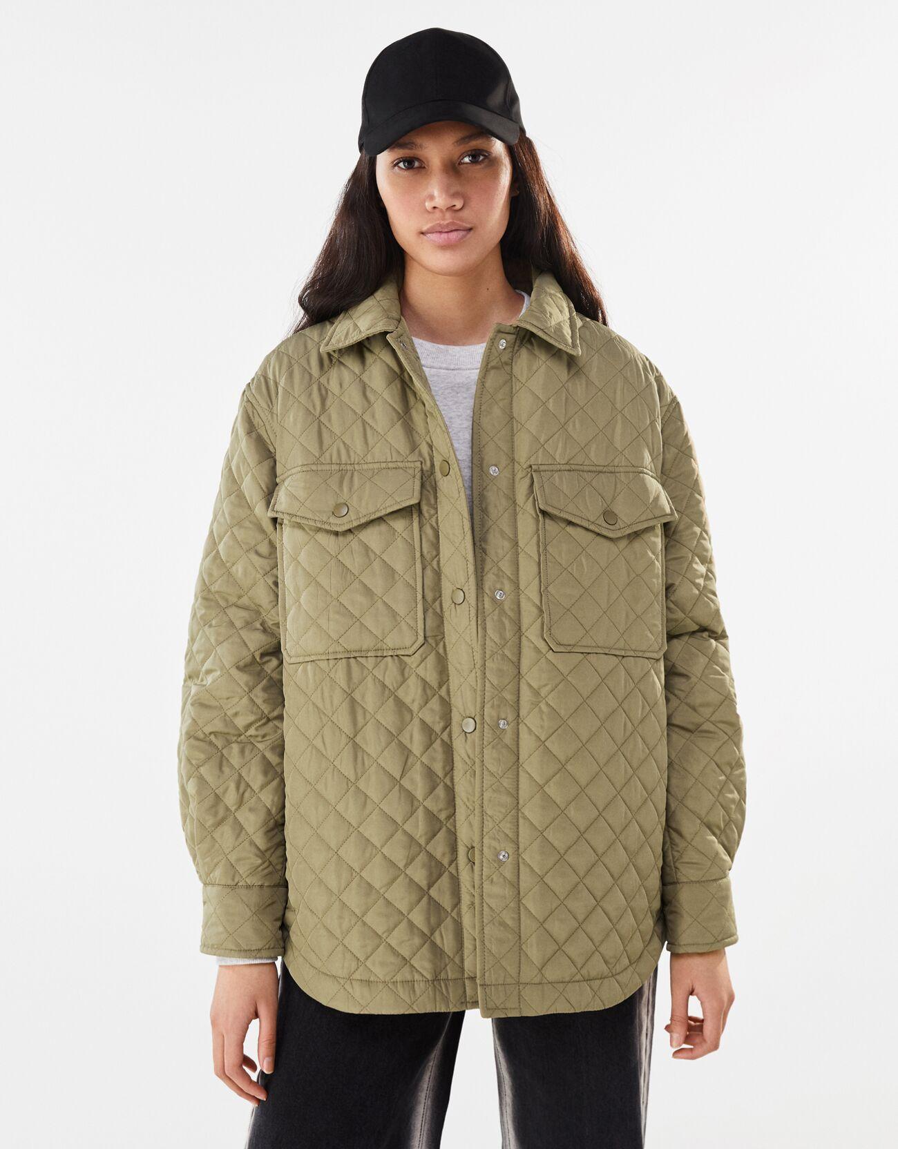 Artikel klicken und genauer betrachten! - Hemdjacke Aus Nylon Color: Khaki Size: Xs Material: Polyester Farbe:Khaki Größe: Xs   im Online Shop kaufen