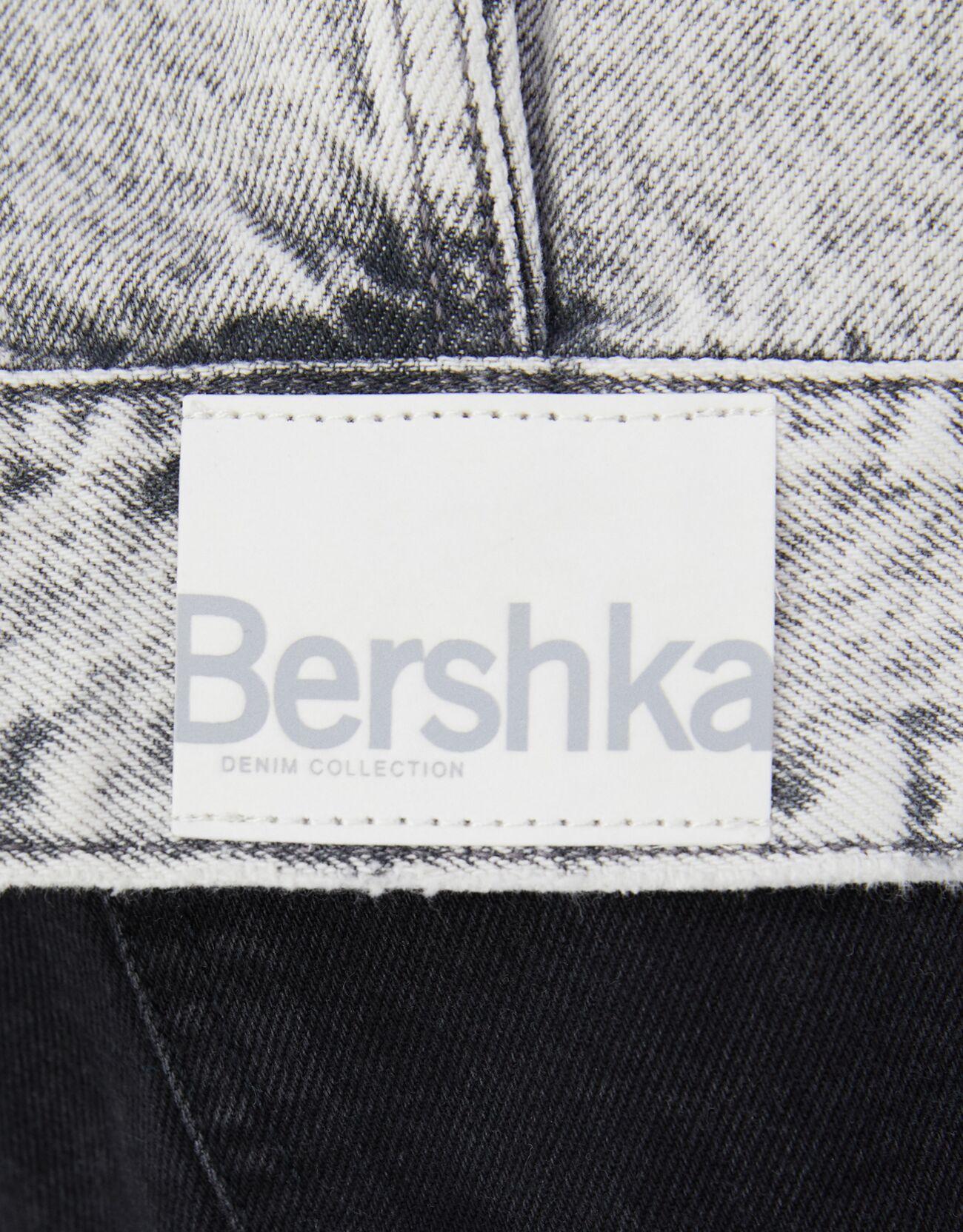 Джинсовый жилет с вырезами Серый Bershka