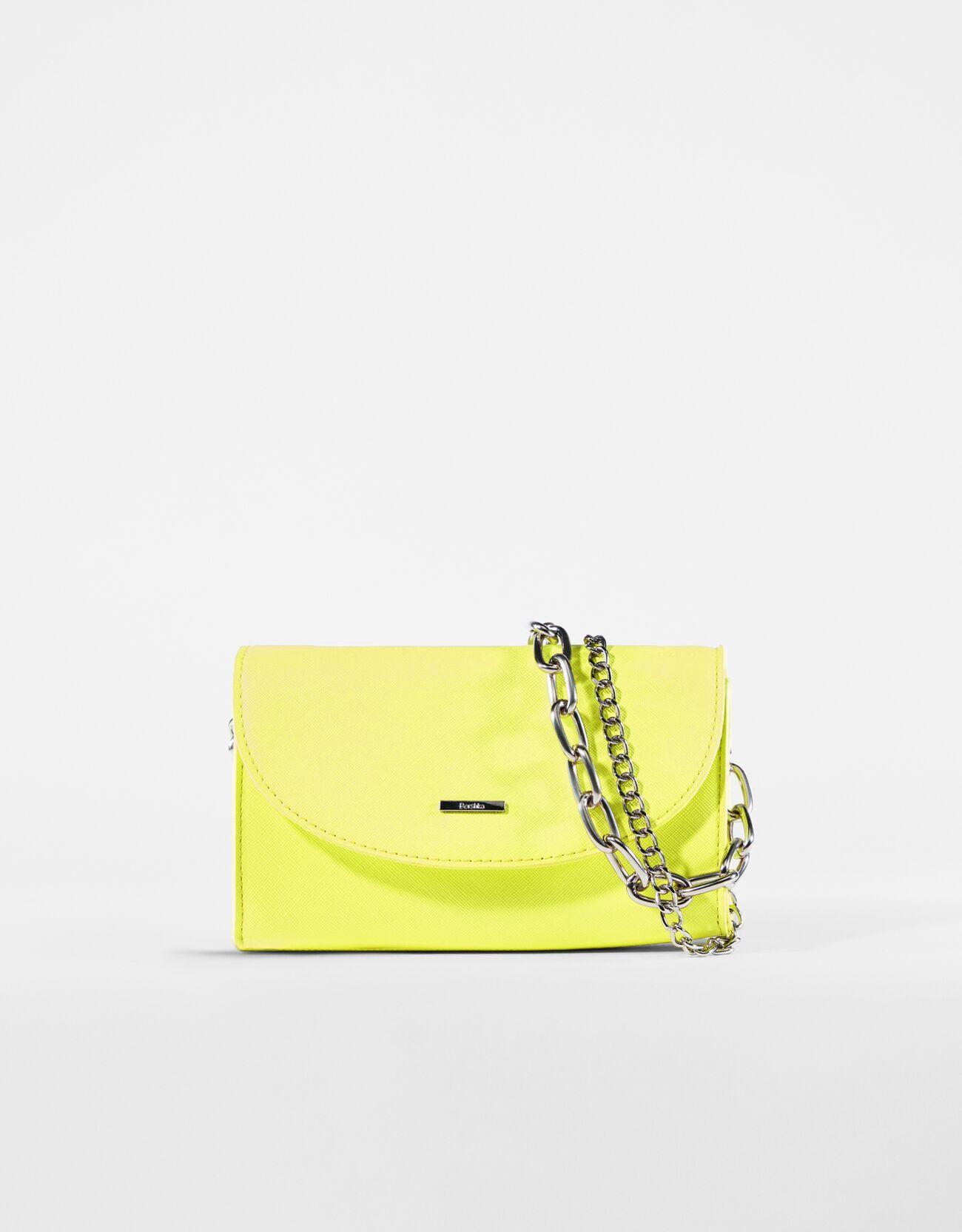 bershka -  Mini-Tasche Mit Mehrfach-Kette Damen Gelb