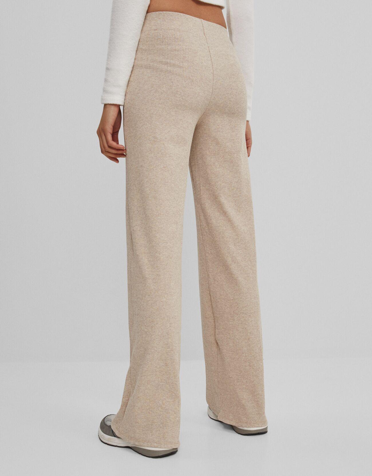 Широкие брюки Песочный Bershka