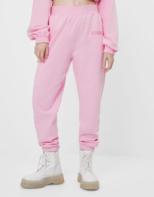 Pantalon Jogger Supernenas Pantalones Mujer Bershka