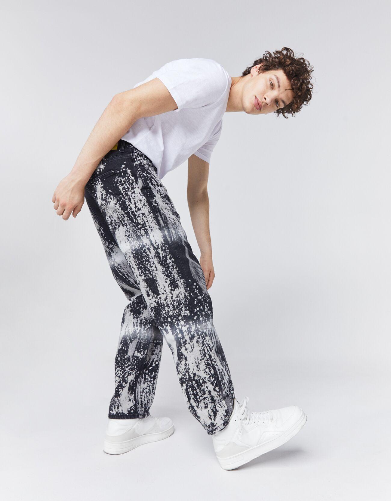 Straight Fit Tie-Dye Jeans