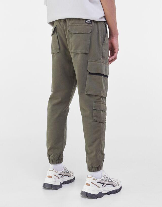 Pantalon Cargo Pantalones Hombre Bershka